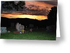 Cemetery Sunset. Greeting Card