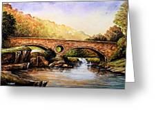 Cenarth Bridge And Falls Greeting Card