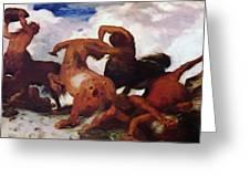 Centaurs 1873 Greeting Card