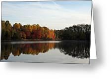 Centennial Lake Autumn - Fall Dressing Greeting Card