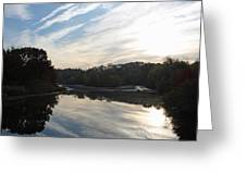 Centennial Lake Autumn - Great View From The Bridge Greeting Card