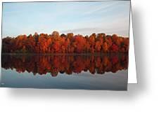 Centennial Lake Autumn - In Full Autumn Bloom Greeting Card