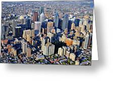 Center City Philadelphia Large Format Greeting Card by Duncan Pearson