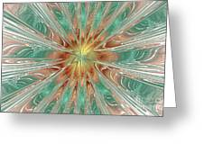 Center Hot Energetic Explosion Greeting Card