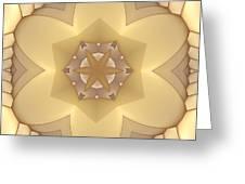 Center Star-flower Greeting Card