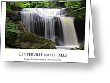 Centerville Mills Falls Greeting Card