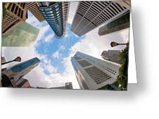 Central Business District In Singapore Greeting Card