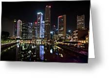 Central Business District, Singapore Greeting Card