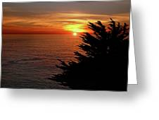 Central Coast Sunset Greeting Card