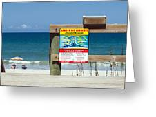 Central Florida Beach Warning Greeting Card