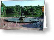 Central Fountain Greeting Card