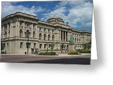 Central Library Milwaukee Full View Greeting Card