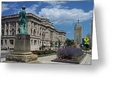 Central Library Milwaukee Street View Greeting Card