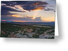 Central New Mexico Sunset Greeting Card