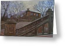 Central Park Bethesda Staircase Greeting Card