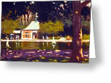 Central Park Boathouse Impression Greeting Card