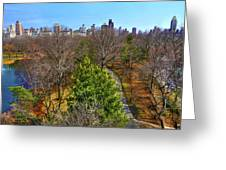 Central Park East Skyline Greeting Card