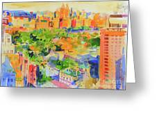 Central Park From The Carlyle Greeting Card