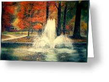 Central Park In Autumn Greeting Card
