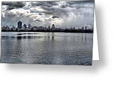 Central Park Resevoir Panorama Greeting Card