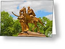 Central Park Sculpture-general Sherman Greeting Card