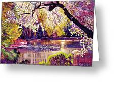 Central Park Spring Pond Greeting Card by David Lloyd Glover