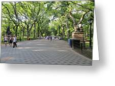 Central Park The Mall Greeting Card