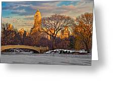 Central Parks Famous Bow Bridge Greeting Card