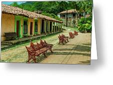 Central Plaza In Copala Greeting Card