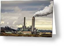 Centralia Power Plant Greeting Card