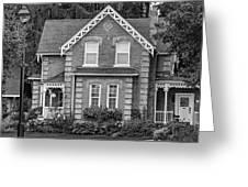 Century Home - Bw Greeting Card