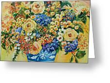 Ceramic Blue Greeting Card