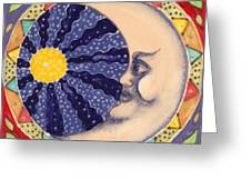 Ceramic Moon Greeting Card by Anna Skaradzinska