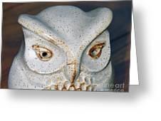 Ceramic Owl. Greeting Card