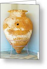 Ceramic Pot From Olympia. Greeting Card