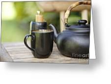 Ceramic Tea Set Greeting Card