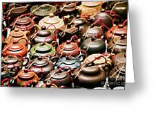 Ceramic Teapots Greeting Card