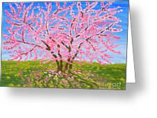 Cercis Tree, Oil Painting Greeting Card