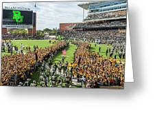 Ceremonial Running Of The Baylor Line Greeting Card