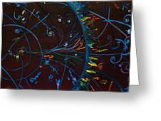 Cern Atomic Collision  Physics And Colliding Particles Greeting Card
