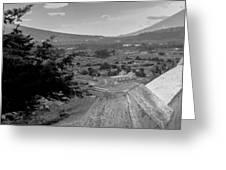 Cerro De La Cruz Bnw I Greeting Card