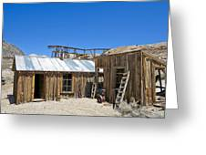 Cerro Gordo Assay Building Greeting Card