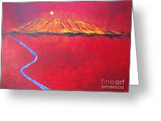 Cerro In Red Greeting Card