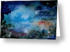 Cerulean Space Clouds Greeting Card by Janet Hinshaw