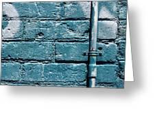 cerulean wall II Greeting Card