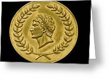 Julius Cesar Roman Coin Greeting Card
