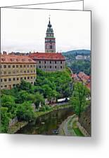 Cesky Krumlov Castle Complex In The Czech Republic Greeting Card