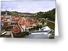 Cesky Krumlov Overview 2 Greeting Card