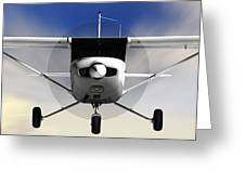 Cessna 152 Flying High Greeting Card