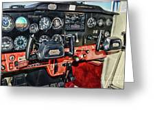 Cessna Cockpit Greeting Card